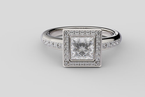 Solitaire  Ring 9056 Princess