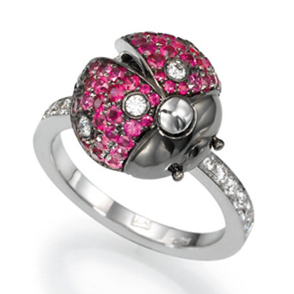 Ring LP 1629 Coccinelle,  Diamonds and Rubies