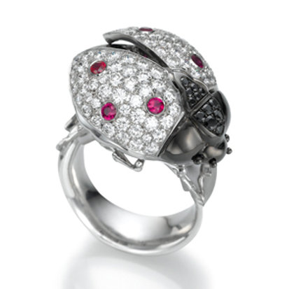 Ring LP 1625 Coccinelle,  Diamonds and Rubies
