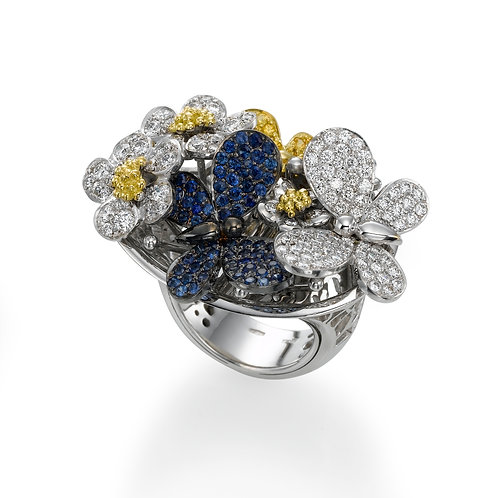 Ring  LP 1459 Papillon , Diamonds, Sapphire