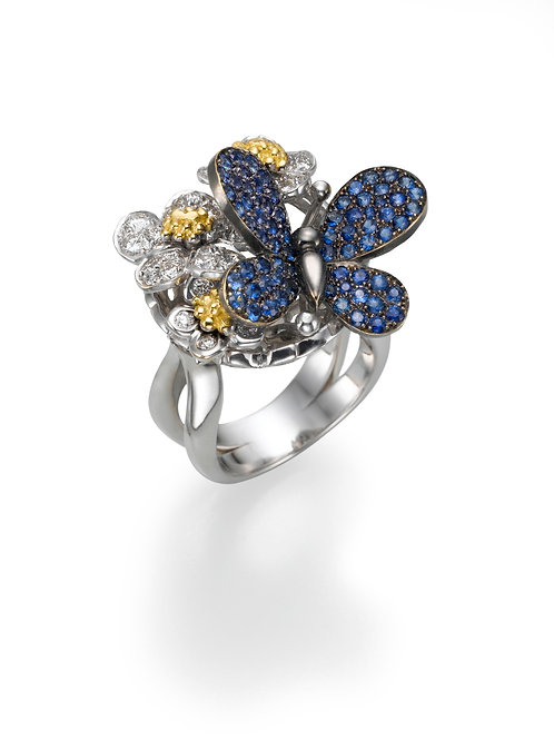 Ring  LP1447Papillon , Diamonds and Sapphire