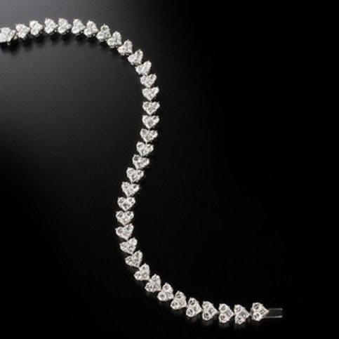 diamonds bracelet, princess cut bracelet