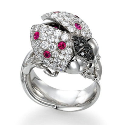 Ring LP 1628 Coccinelle,  Diamonds and Rubies