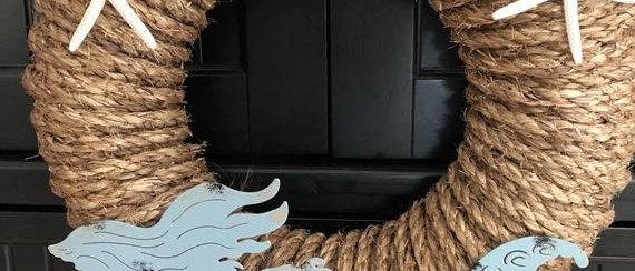 Mermaid Rope Wreath