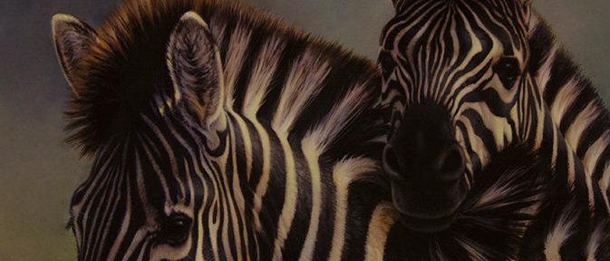 Two Zebras - Johnson-Godsy