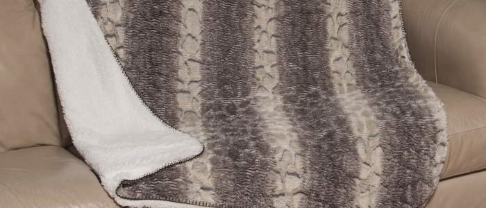 Snake Faux Fur Luxury Filled Plush Throw