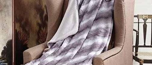 Zephyr Gray Faux Fur Luxury Filled Plush Throw