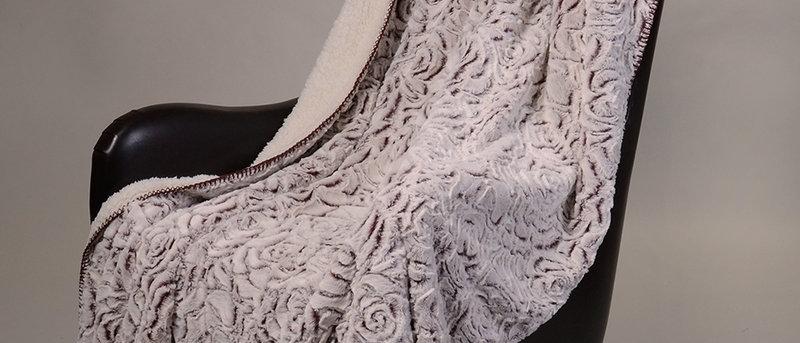 Rose Faux Fur Luxury Filled Plush Throw