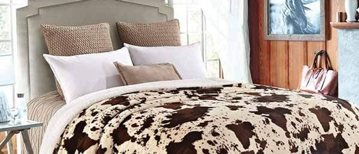 Rodeo Faux Fur Luxury Filled Plush Blanket
