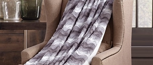 Raging Sea Faux Fur Luxury Filled Plush Throw