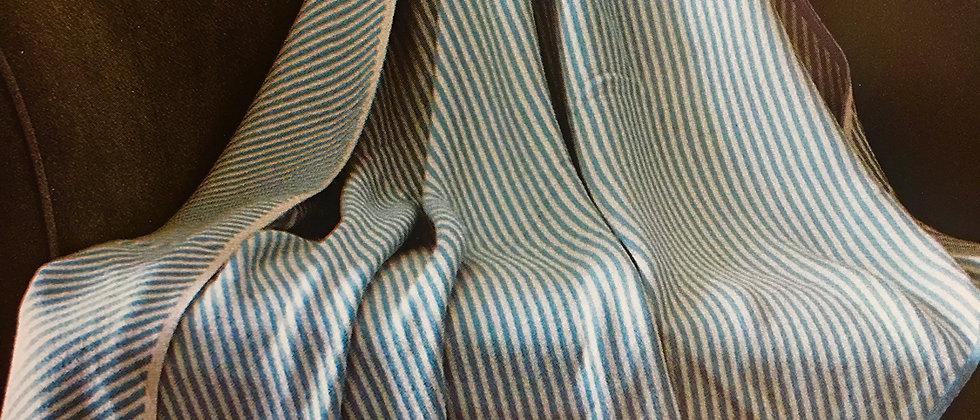 Aqua Strip - Virah Bella Reversible Knitted Throw