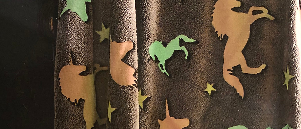 Prancing Unicorns Glow In The Dark Throw