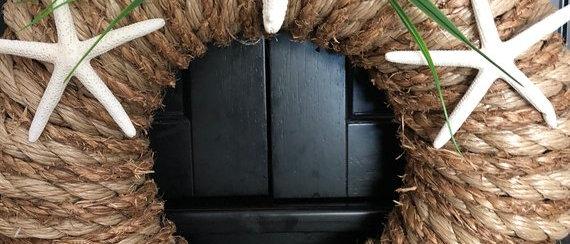 Starfish Nautical Rope Wreath