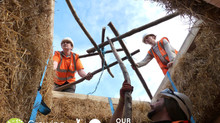 Hill Holt Wood Hosts its first Straw Bale Construction Qualification!