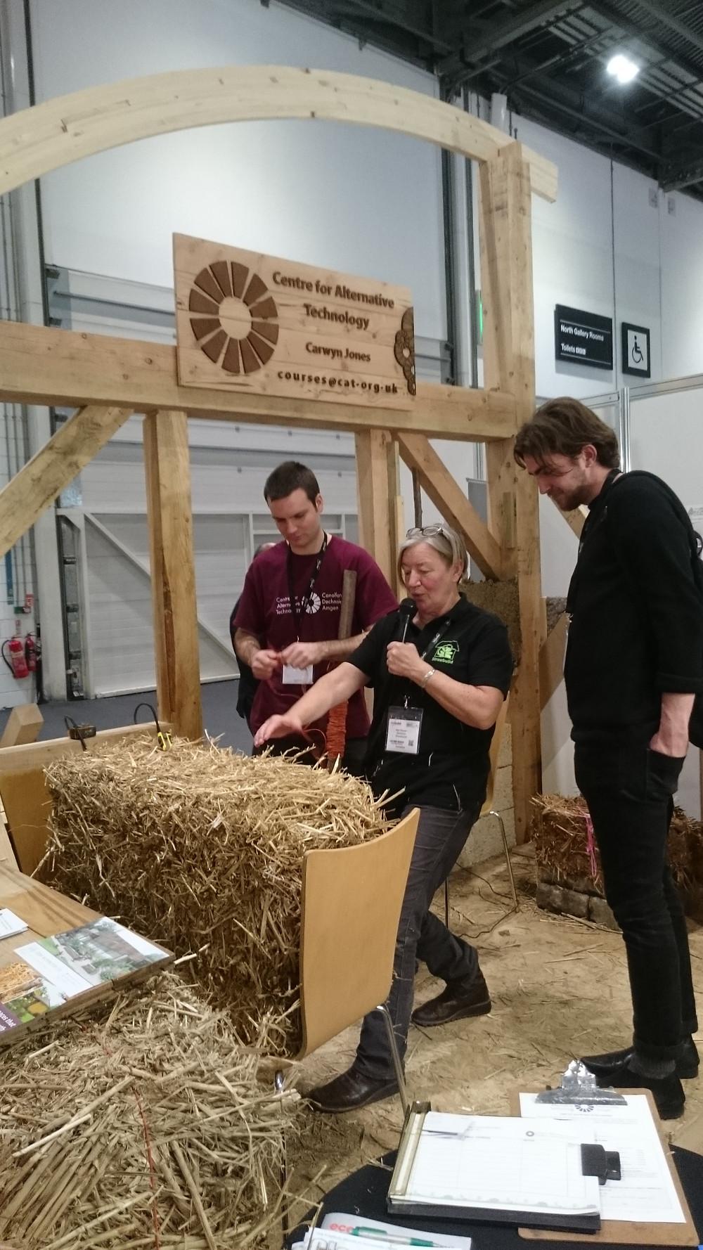 Straw Bale Demonstrations by Strawbuilds Bee Rowan