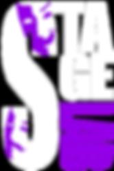 StageLAB Print Logo - Purple & White on