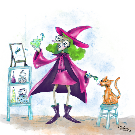 Witch+Cat
