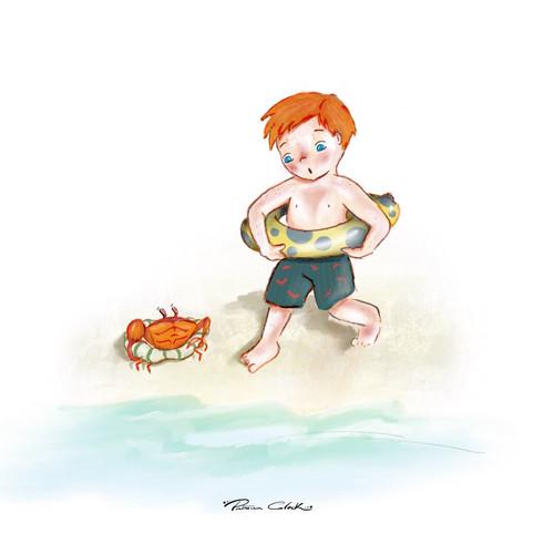 Boy+crab