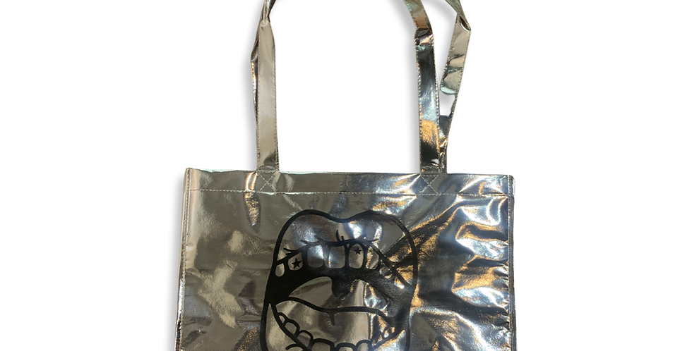 REFINED SHOPPING BAG - SILVER