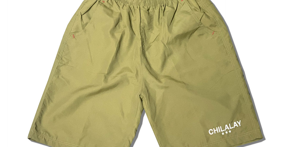 LOGO SHORTS (ARMY GREEN)