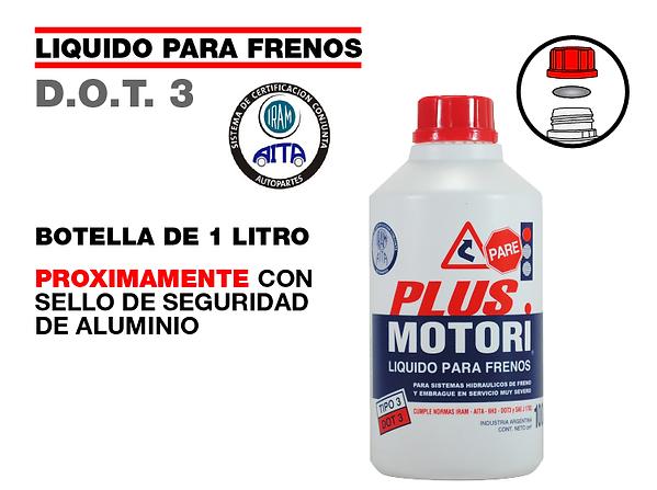 Liquido de frenos sello de aluminio foil seguridad Plus Motori