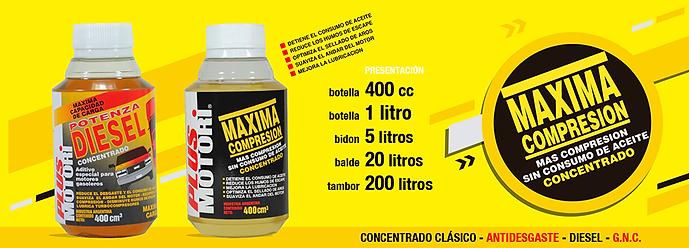 Lubricantes aceite y aditivos Plus Motori aditivo para el carter maxima compresion