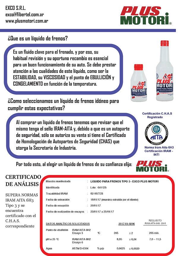 Lubricantes aceite y aditivos Plus Motori Newsletter Liquido de frenos AITA 6H3 y C.H.A.S.
