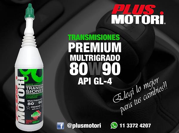 Transmisiones 80W9 GL4 Plus Motori