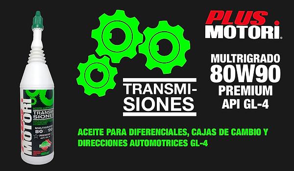 Aceite Lubricante Transmisiones GL-4 Premium 80W90 Plus Motori