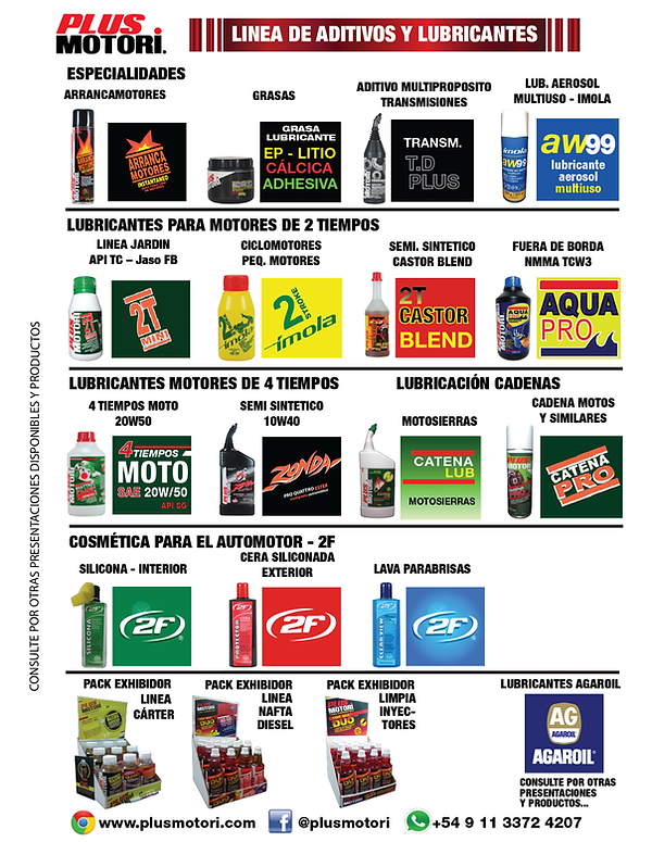 Plus Motori -Productos