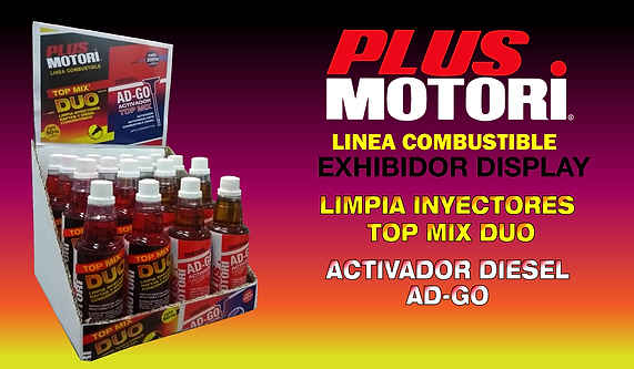 Aditivo Plus Motori Linea Combustible Exhibidor Display Limpia Inyectores y Actvador diesel