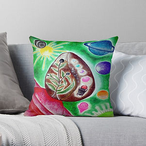 The Cosmic Egg Throw Pillow.jpg
