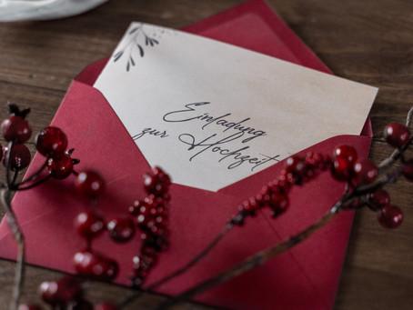 Deine Papeterie-Checkliste zur Hochzeit