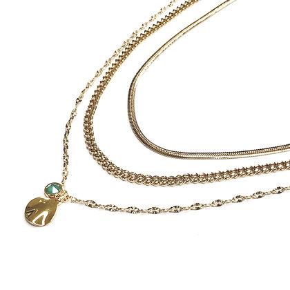 Collier triple perla
