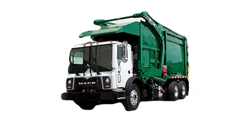 Front loader garbage truck. Premier Waste Management Limited. Gargage disposal company in Jamaica. Trash hauling in Jamaica.