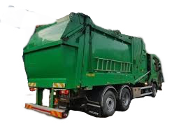Premier Waste Management Limited. Rear Loader Truck. Garbage disposal.