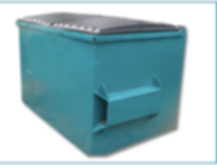 Front Loader skip for sale and rental used by garbage dispsal companies in Jamaica