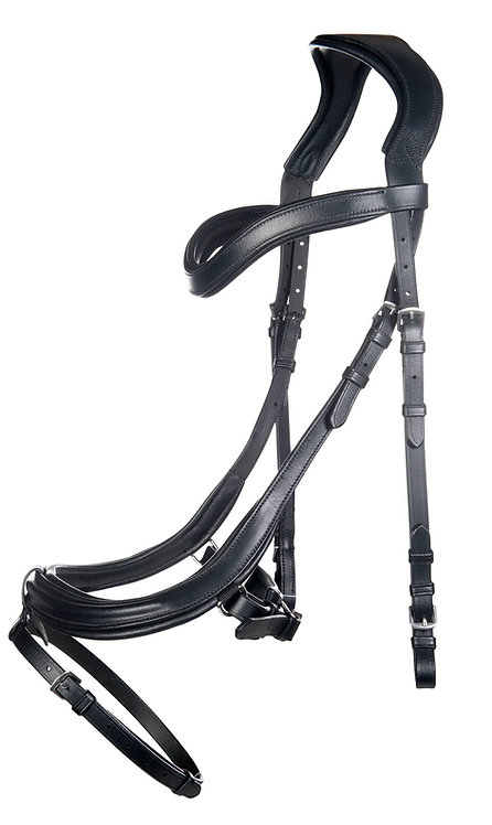 HKM Anatomical Bridle with rubber reins