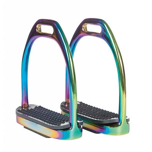 HKM Light Rainbow Stainless Steel stirrup irons