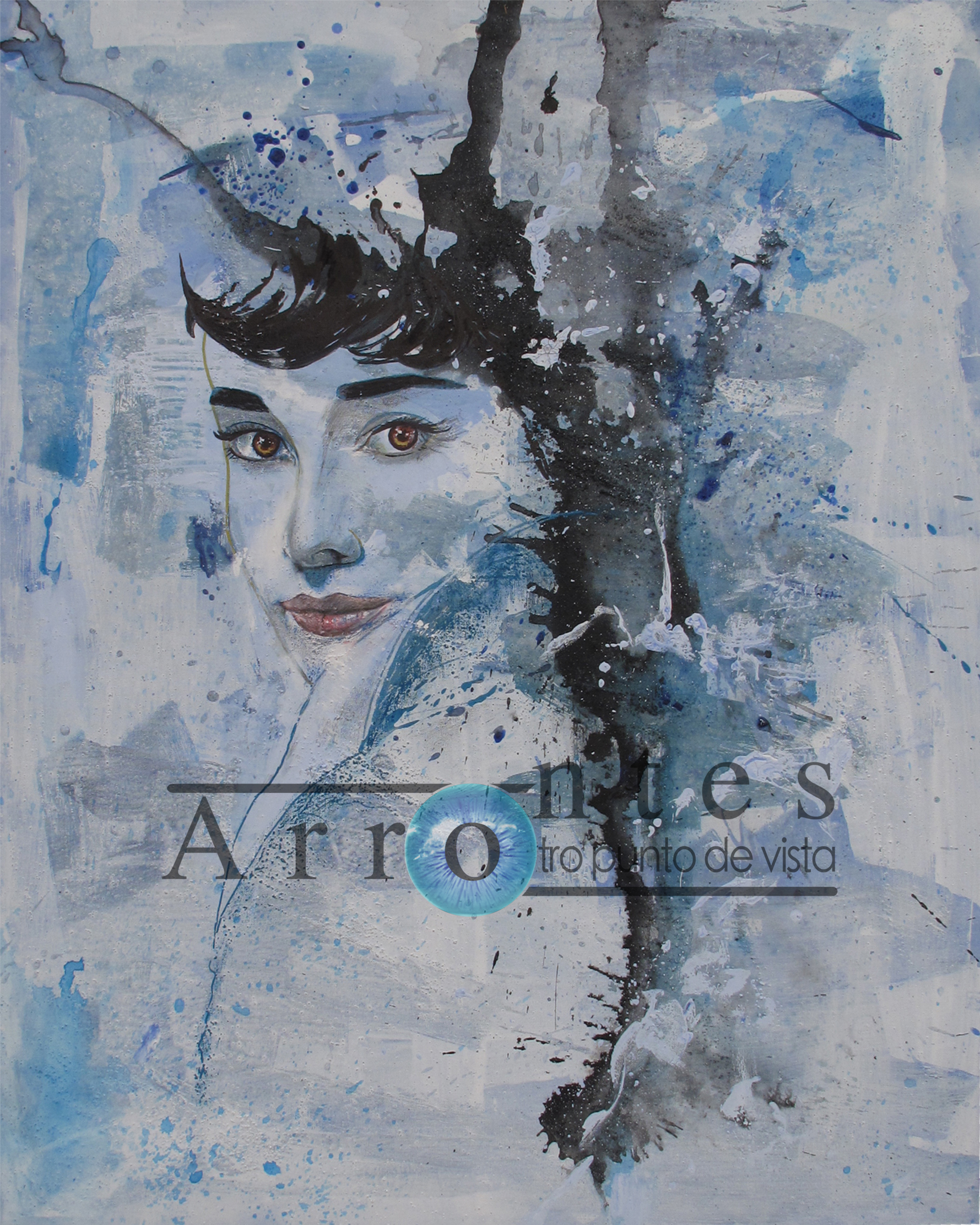 Audrey Hepburn 81x100 cms