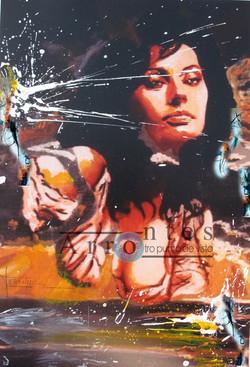 Sofía Loren 81x100 cms