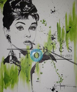 Audrey Hepburn 60x75 cms