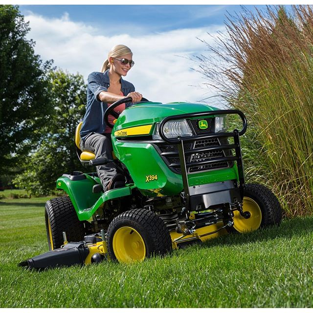A little John Deere action from last summer _ #johndeere #tractor #lawnmower #commercial #print #sti