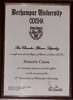 Conferred the prestigious title 'Doctorate in Law (LLD)'