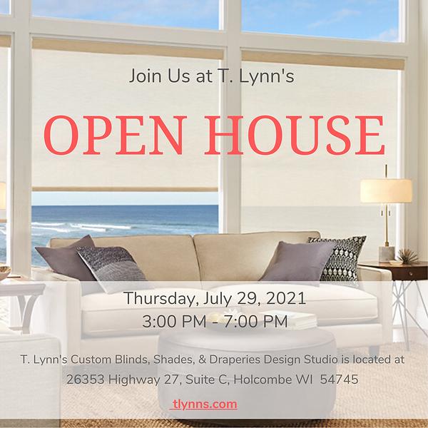July 29, 2021 T. Lynn's Open House Invitation