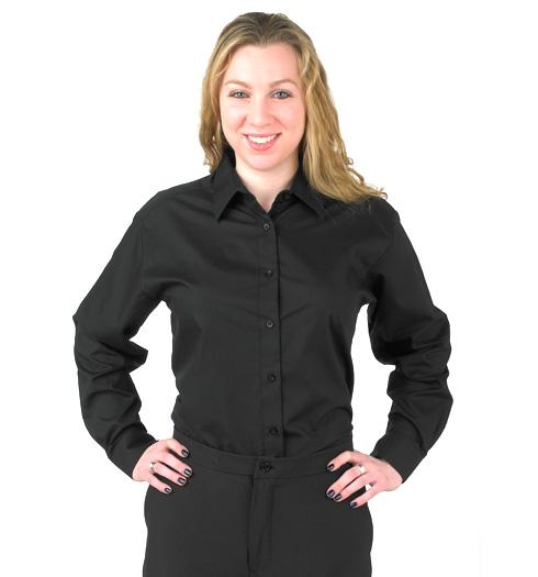 her long sleeve dress shirt BLACK