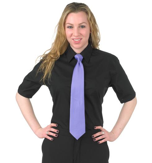 her short sleeve dress shirt BLACK
