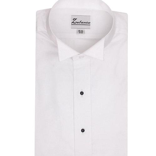 Mens Plain Front Wing Neck Tuxedo Shirt