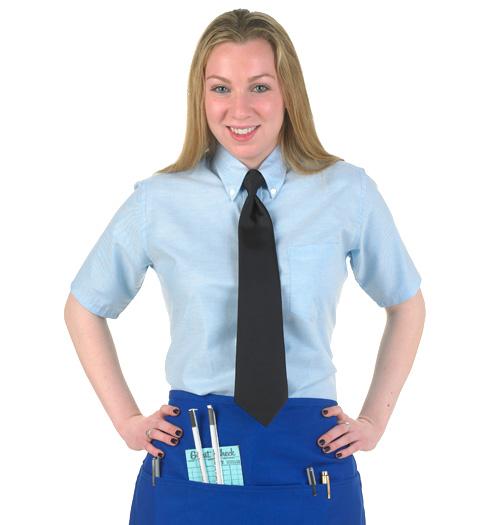 her short sleeve oxford shirt LIGHT BLUE