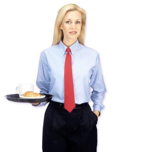 her long sleeve oxford shirt LIGHT BLUE